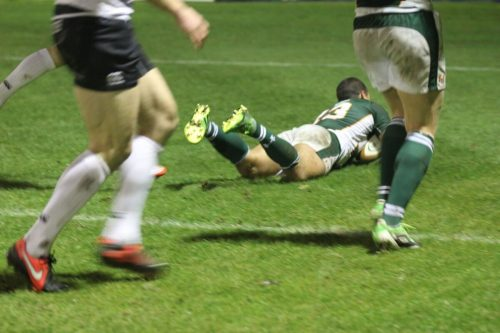 Ronnie McLean try v Moseley