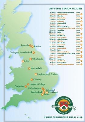 2014-15 fixtures