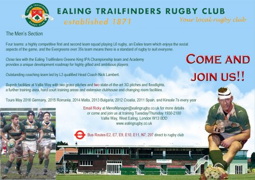 Ealing Men's Section flyer